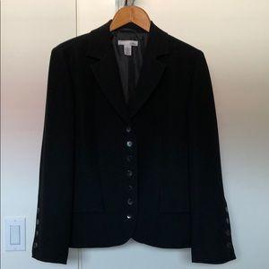 Chico's black polyester blazer